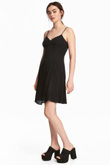 Crêpe dress - Black - Ladies | H&M CN