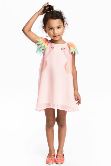 Chiffon dress - Light pink - Kids | H&M