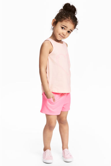 Vest top and shorts - Light pink/Heart - Kids | H&M IE 1
