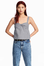 Checked top - Black/White - Ladies | H&M 1