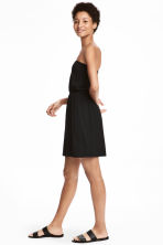 Strapless jersey dress - Black - Ladies | H&M 1