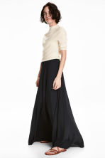 Long bell-shaped skirt - Dark blue - Ladies | H&M 1