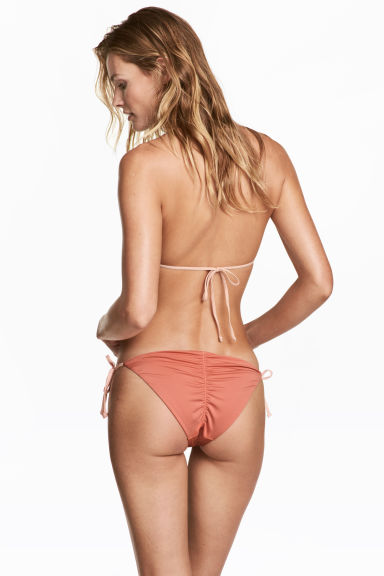 Tie tanga bikini bottoms - Rust - Ladies | H&M 1