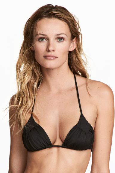 Triangle bikini top - Black - Ladies | H&M 1