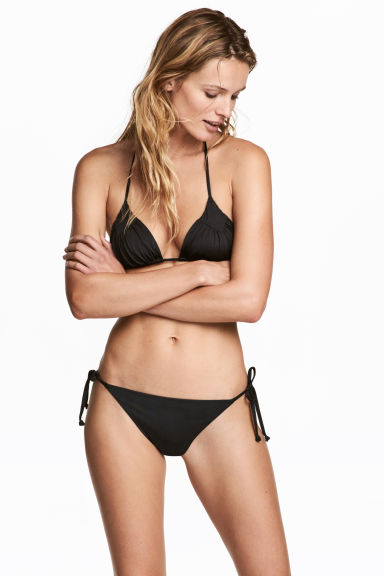 Tie tanga bikini bottoms - Black - Ladies | H&M 1