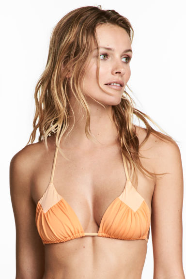 Triangle bikini top - Light orange - Ladies | H&M CN 1
