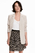 Crinkled chiffon skirt - Zebra print - Ladies | H&M 1