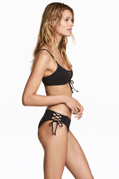 Bikini bottoms with lacing - Black -  | H&M 1