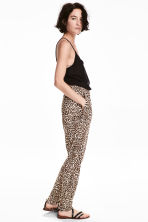 平紋長褲 - Leopard print - Ladies | H&M 1