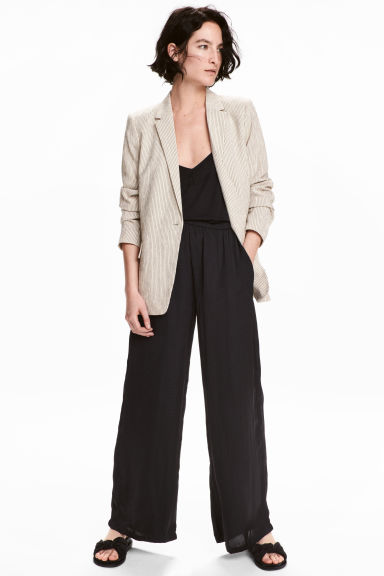 Pantaloni ampi - Nero - DONNA | H&M IT 1