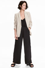 Wide trousers - Black - Ladies | H&M 1