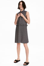 Patterned dress with frills - Black - Ladies | H&M CN 1