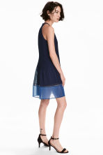 Pleated dress - Dark blue - Ladies | H&M CN 1