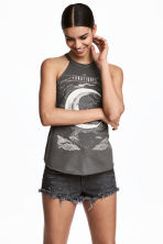 Jersey top with a print motif - Dark grey/Moon - Ladies | H&M 1