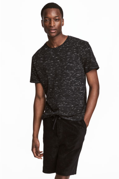 Round-neck T-shirt Regular fit - Black marl - Men | H&M CN 1