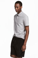 Polo shirt Slim Fit - Grey marl - Men | H&M 1