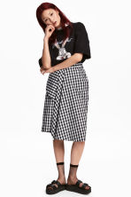 Knee-length wrap skirt - Black/White/Checked - Ladies | H&M 1