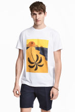 T-shirt with a print motif - White/Palm - Men | H&M CN 1