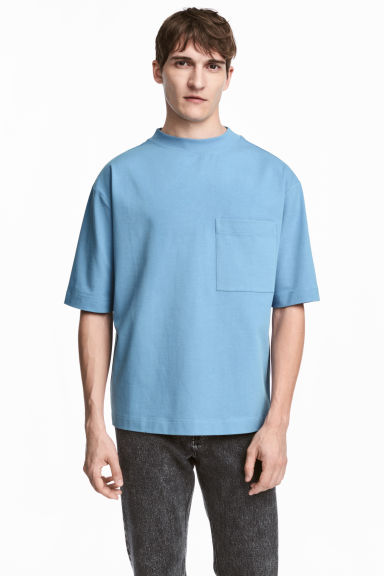 Oversized T-shirt - Sky blue - Men | H&M 1