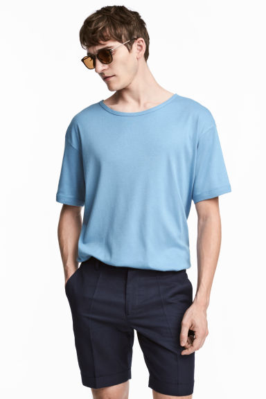 T-shirt - Sky blue - Men | H&M CN 1