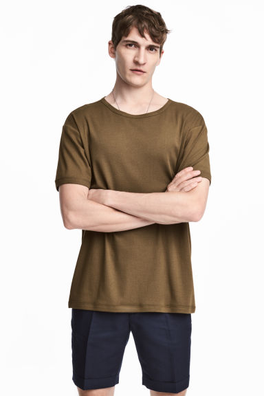 T-shirt - Khaki brown - Men | H&M 1
