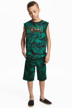 運動短褲 - Black/Leaf - Kids | H&M 1