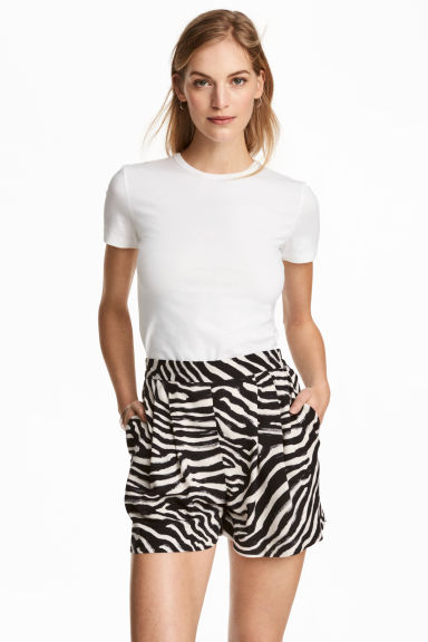 寬鬆短褲 - Zebra print - Ladies | H&M