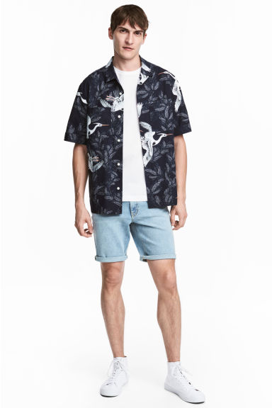 Denim shorts - Light denim blue - Men | H&M CN
