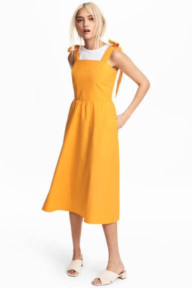 Lyocell-blend dress - Orange - Ladies | H&M CN 1