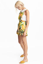 Playsuit - White/Yellow patterned - Ladies | H&M CN 1