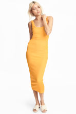 Ribbed jersey dress - Yellow - Ladies | H&M CA 1