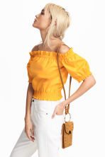 Off-the-shoulder blouse - Orange - Ladies | H&M 1