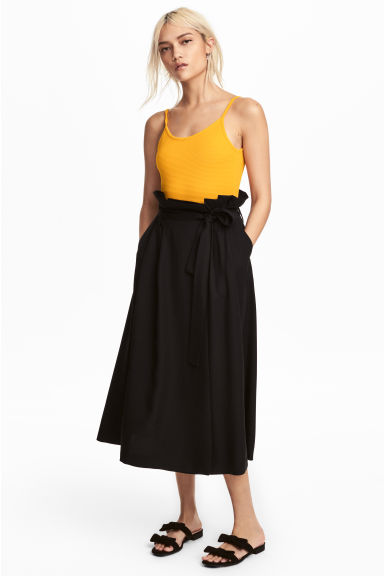 Lyocell skirt - Black - Ladies | H&M CN