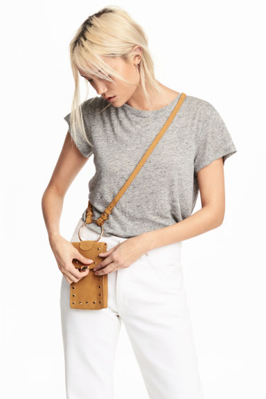 Suede mobile phone bag - Camel - Ladies | H&M