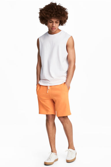 Sweatshirt shorts - Orange - Men | H&M 1