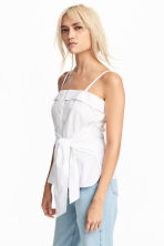 Cotton top - White - Ladies | H&M 1