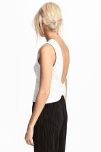 Knot-detail vest top - White - Ladies | H&M 1