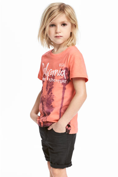 Printed T-shirt - Orange/Palms - Kids | H&M 1