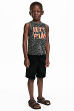 Vest top and shorts - Dark grey/Black -  | H&M 1