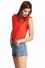 Sleeveless top - Red - Ladies | H&M 1