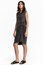 Sleeveless jersey dress - Black washed out - Ladies | H&M CN 1