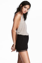 Shorts con bordo in mesh - Nero - DONNA | H&M IT 1