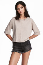 Wide T-shirt - Grey beige - Ladies | H&M 1