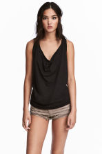 Draped vest top - Black -  | H&M CN 1