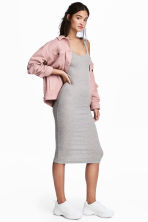 Ribbed dress - Grey marl - Ladies | H&M 1