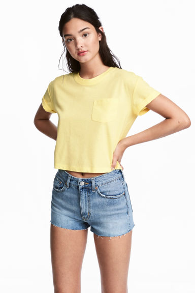 Crop top - Lichtgeel -  | H&M BE 1