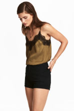 Shorts in twill a vita alta - Nero - DONNA | H&M IT 1