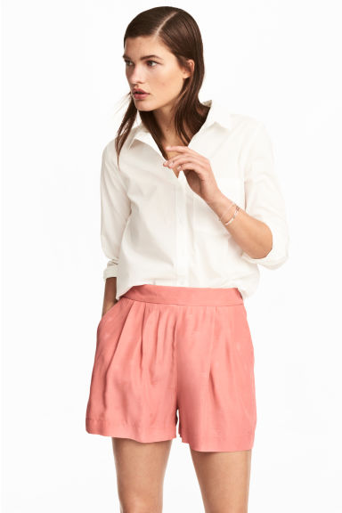 Shorts in tessuto jacquard - Rosa - DONNA | H&M IT