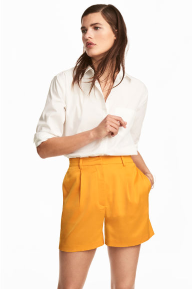 High-waisted shorts - Orange - Ladies | H&M