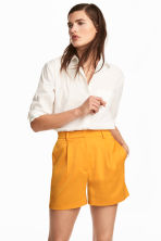 High-waisted shorts - Orange - Ladies | H&M CN 1